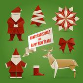 Christmas Origami — Stock Vector