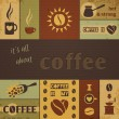 Coffee Design Set — Stock Vector