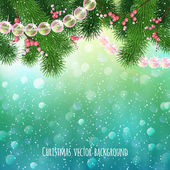 Realistic Christmas background — Stock Vector