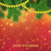 Realistic Christmas background — Vector de stock