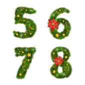 Christmas numerals — Stock Vector
