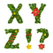 Noel alfabesi — Stok Vektör