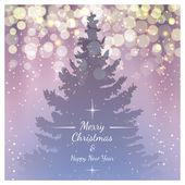 Christmas fir tree — Stock Vector