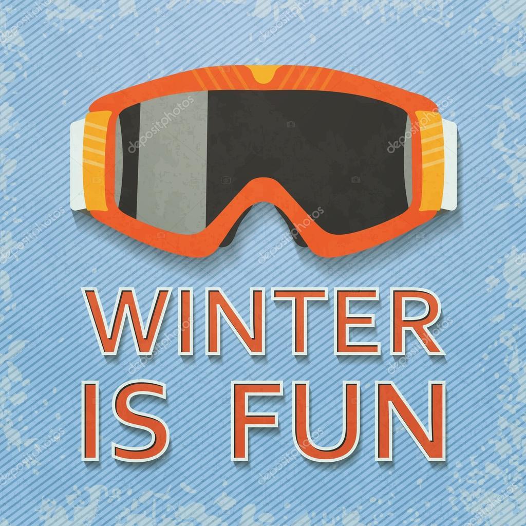 Ski Goggles Vector Retro Style Ski Goggles