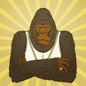 Gorille en colère — Vecteur