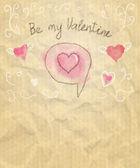 Sketchy Valentine Card — Stock Vector