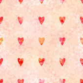 Romantic Watercolor Background with Hearts — Stockvektor