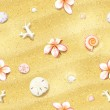 Seamless Sand Background with Flowers — Stock Vector #41386797