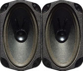 Speaker drivers isolated on white, textured picture imitation — Stock Photo