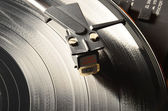 Tonearm on a vinyl record — Stock Photo