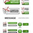 Collection of compose message icons and buttons — Stock Vector #14813741