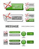 Sammlung von compose message icons und buttons — Stockvektor