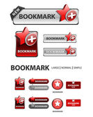 Collection of favorite icons and buttons — Stock Vector