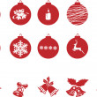 Christmas retro icons — Stock Vector