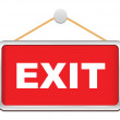 Stock Vector: Exit sign
