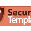 Stock Vector: Secure label