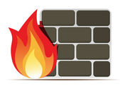Firewall icon — Stock Vector
