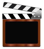 Empty film clapper — Stock Vector