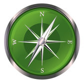 Glossy Compass — Stock Vector