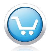Shopping button — Stock Vector