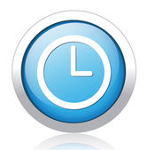 Klocka-knappen — Stockvektor