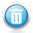 Trash button — Stock Vector