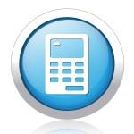 Calculator Button — Stock Vector