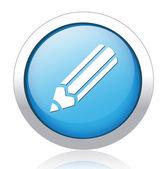 Pencil button — Stock Vector