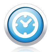 时钟按钮 — 图库矢量图片