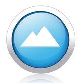 Горы значок — Cтоковый вектор