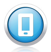 Smartphone Button — Stock Vector