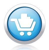 Tlačítko nákupního — Stock vektor