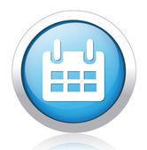 Calendar Button — Stock Vector