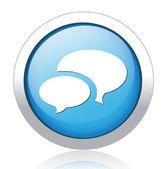 Speech bubbles Button — Stock Vector