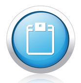 Diskette Button — Stock Vector