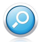 Scale silver blue button design — Stock Vector