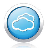 Clouds Button — Stok Vektör