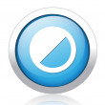 Brightness silver blue button design — Stock Vector #41567733