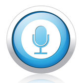 Microphone Button — Stock Vector