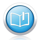 Bookmark silver blue button design — Stock Vector