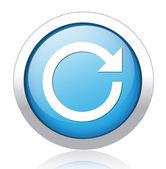 Replay silver blue button design — Stock Vector