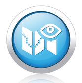 Maps silver blue button design — Stock Vector