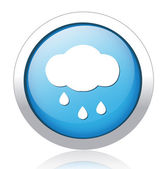 Stormy cloud blue button design — Stock Vector