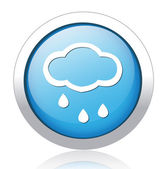 Stormy cloud blue button design — Stock Vector