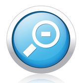 Blauwe knop ontwerp verkleinen — Stockvector