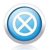 Error silver blue button design — Stock Vector