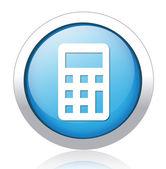 Calculator silver blue button design — Stockvektor