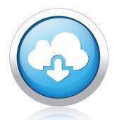 Download from cloud button design — ストックベクタ