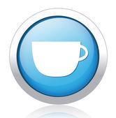 咖啡按钮 — 图库矢量图片