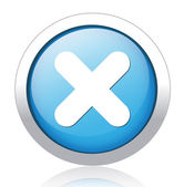Multiply silver blue button design — Stock Vector